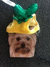 PINEAPPLE HEADPIECE Halloween Dog Cat Pet Costume  1 PC Size XS/S