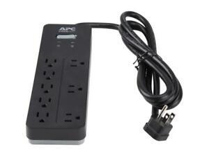 APC Home Office SurgeArrest 8-Outlet 6 ft Black 2160 Joules PH8 Surge Protector