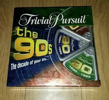 Trivial Pursuit the 90s Family Party Board Game Parker 2005 Complete Quiz 1990s
