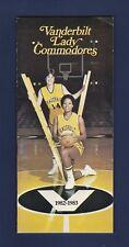 Vanderbilt Lady Commodores 1982-83 Womens basketball media guide