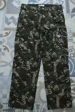 "AAPE A Bathing Ape camouflage trousers size M 34""W 29""L"
