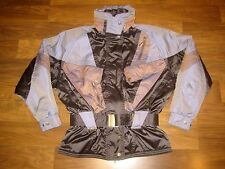Vtg 80s 90s NEVICA Iridescent Purple BELTED Womens 6 Snowboard SKI Jacket Coat