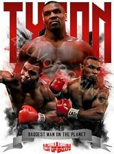 Mike Tyson Boxing Poster White 4LUVofBOXING 11x17 Baddest man on Planet New