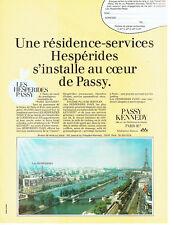 Publicité Advertising  108  1982   Residence-Service Hespérides  Passy Kennedy