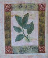 Gemälde - handgemalt Leinwand Acryl Malerei modern naiv Wohnzimmer Blätter Blatt