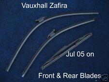 NEW Front & Rear Wiper Blades Vauxhall Zafira 2005 2006 2007 2008 2009 2010 2011