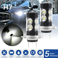 H7 100W LED Fog Light Globes Bulbs Replacement Bulbs DRL 12000LM Bright LD2074