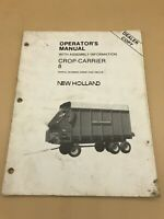 New Holland Operators Manual 8 Crop Carrier Wagon 430397 Up Assembly Dealer Copy