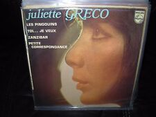 """JULIETTE GRECO les pingouins ( world music ) 7""""/45 picture sleeve ep"""