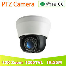 "new 10X Zoom MINI CAMERA 1/3"" Sony 1200TVL Zoom 3.5Inch Analog PTZ Camera ir:25m"
