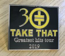 TAKE THAT 30 YEARS- GREATEST HITS TOUR 2019 (GLITER) ENAMEL PIN BADGE SOUVENIR