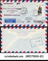 SPAIN - 1978 AIR FRANCE MADRID to NANTES FIRST FLIGHT COVER FFC