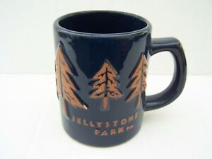 Jellystone Park Hanna Barbera Coffee Mug Blue Yogi Bear Boo Forest Trees Camp