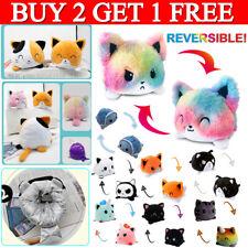 Uk Double-Sided Flip Reversible Unicorn Cat Plush Toys Funny Animals Doll Gift