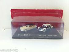 UH / Atlas - Coffret duo Citroën DS 19 1956 et Police 1958 (HO - 1/87)