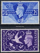 GB 1946 Victory Complete Set SG491-2 Unmounted Mint  - FREEPOST -