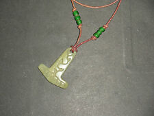 Thor Hammer African Butterstone Necklace