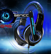 UK SOMIC G95 Blue Light Gaming Headsets & Microphone for GMAER RAZER MSN SKYPE