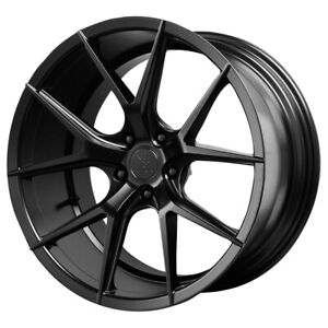 Staggered Verde Axis Front:20x9,Rear:20x10.5 5x120 +35mm Black Wheels Rims
