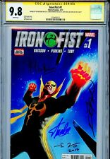 Iron Fist Vol 5 1 CGC 9.8 SS X4 Stan Lee Ed Brisson Mike Perkins Jeff Dekal
