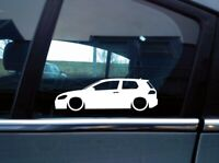 2x Lowered car outline stickers - for VW Golf MK7 GTI / GTD 3-Door L61