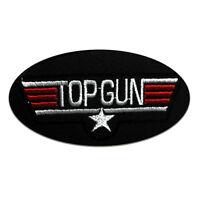Toppe termoadesive - Top Gun Movie - nero - 10x5,3cm - Patch Toppa ricamate