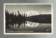 Alaska USA Mount McKinley from Wonder Lake Real Picture Postcard Cover