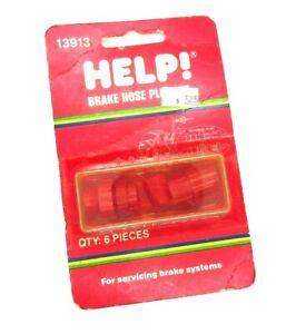 Help 13913 Brake Hose Plug Kit - 3 caps and 3 plugs 3/8-24 7/16-24 and 1/20-20