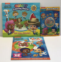 3 Nickelodeon Bubble Guppies Sticker Activity Maze Mania Books Coloring Poster
