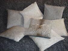 Kuhfell-Kissen, wolfsgrau, 30x30 cm, cowhide cushion, fur pillow