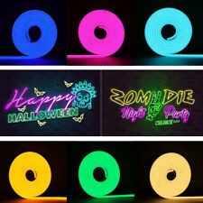 5M DC12V Dimmable LED Strip Waterproof Sign Neon Lights Flexible Silicone Tube