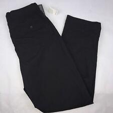 Alan Flusser Golf Pants Men's Size 38w/34L Black Flat Front Micro Tech