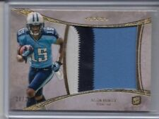 Justin Hunter 2013 Five Star 3-Color Rookie RC Jumbo Patch Card /25
