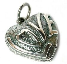 VINTAGE Argento Amore Cuore Charm