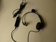 USB Headset with Microphone Noise Cancelling & Audio Controls, Wideband C