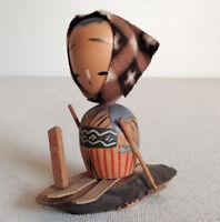 3.5 inch Japanese VTG Sosaku Kokeshi Doll from Zao : made in around 1955