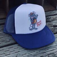 Chuck E Cheese Pizza Time Theatre Trucker Hat Vintage 80's Snapback Cap Blue