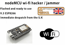 NodeMCU  Wifi Jammer Hacker AP Deauther ESP8266 Tester flashed and ready to go!