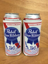 PBR Pabst Blue Ribbon Beer Koozie 24 oz Tall Can Cooler Cooler - 2 PK. NEW & F/S