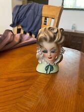 Vintage Lady in Pigtails Head Vase/Headvase
