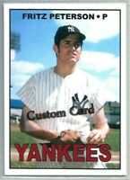 FRITZ PETERSON NEW YORK YANKEES 1967 STYLE CUSTOM MADE BASEBALL CARD BLANK BACK