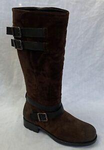BNIB Clarks Ladies Adelia Dusk Brown Suede Long Boots