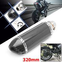 Universal Motorrad Auspuff Endtopf Schalldämpfer Carbon Edelstahl 38mm-51mm DE