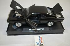 1:32 Fast and Furious 1970 Dodge Charger Black Metallic Light and sound Diecast