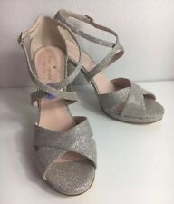 Kate Spade Size 8.5 Glitter Sparkle Strappy Open Toe Stiletto High Heels