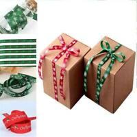 Double-sided DIY Christmas Grosgrain Ribbon Printing Gift Wrap Home Decor 1 Roll