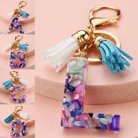 26 Letter A-Z Pendant Acrylic Keychain Women Men Keyrings Bag Pendant Accessorie
