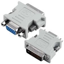 5x Dvi-i (dual Link) Macho A Vga (hd15) Mujer Monitor de pantalla Adaptador Convertidor