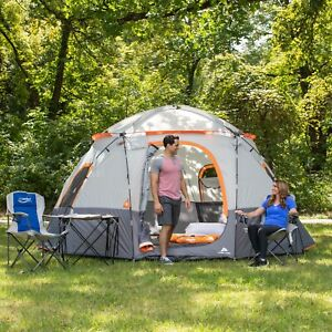 """Ozark 15"""" x 15"""" - 9 Person Camping Lighted Sphere Tent"""