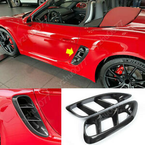 2017-19 For Porsche 718 Boxster Cayman Carbon Fiber Intake Side Air Vents Trim